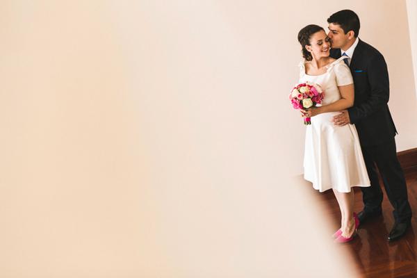 short-retro-white-dress-wedding