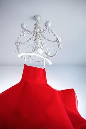 red-strapless-wedding-dress