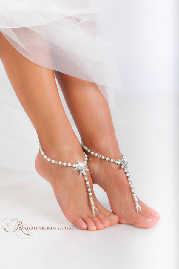 Barefoot Wedding Sandals For Brides Chic Stylish Weddings