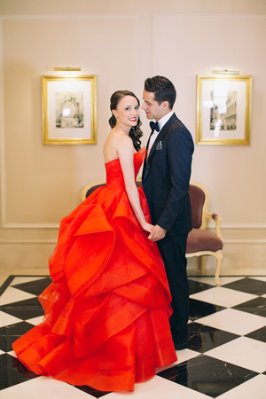 red-strapless-wedding-dress