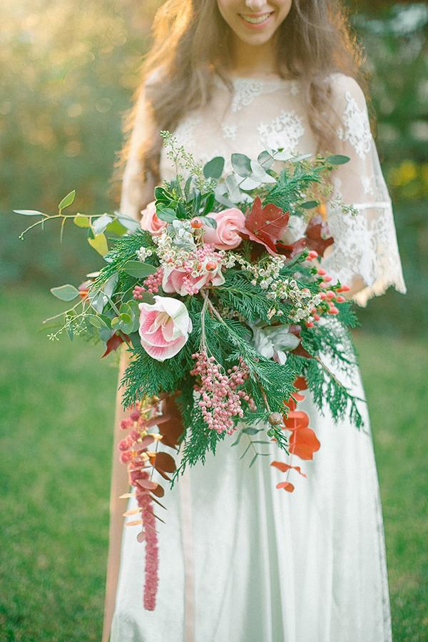 bohemian-bridal-bouquet-marsala