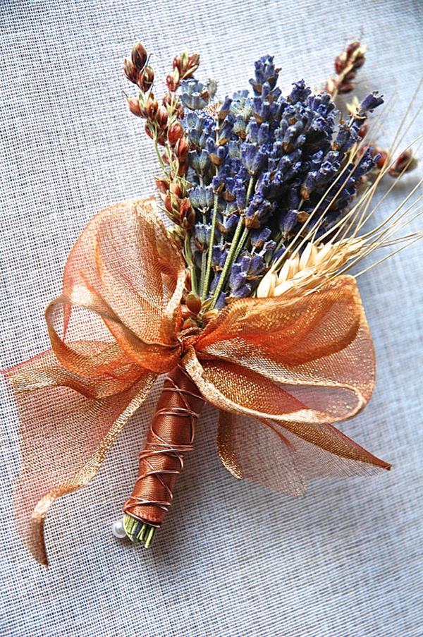copper-lavender-boutonniere