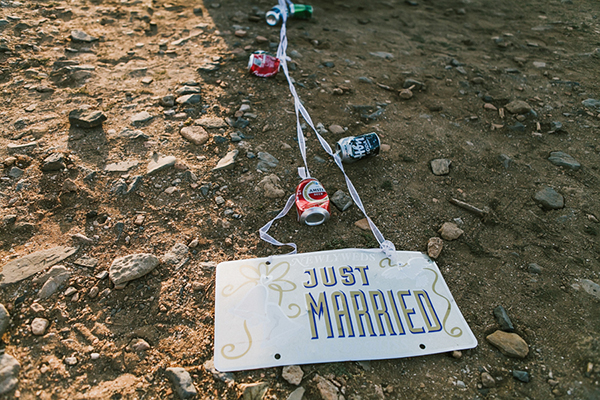 just-married-sign