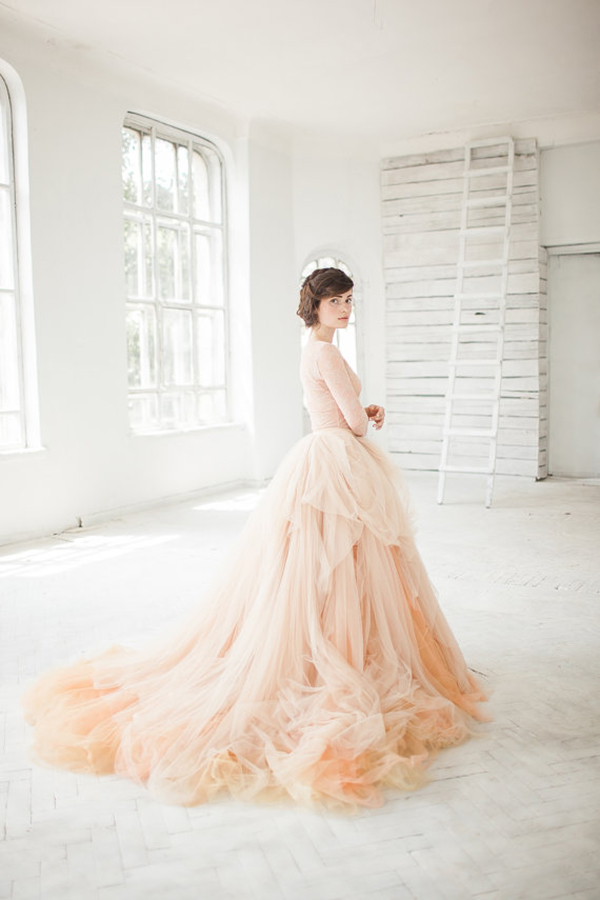 nude-tulle-wedding-skirt