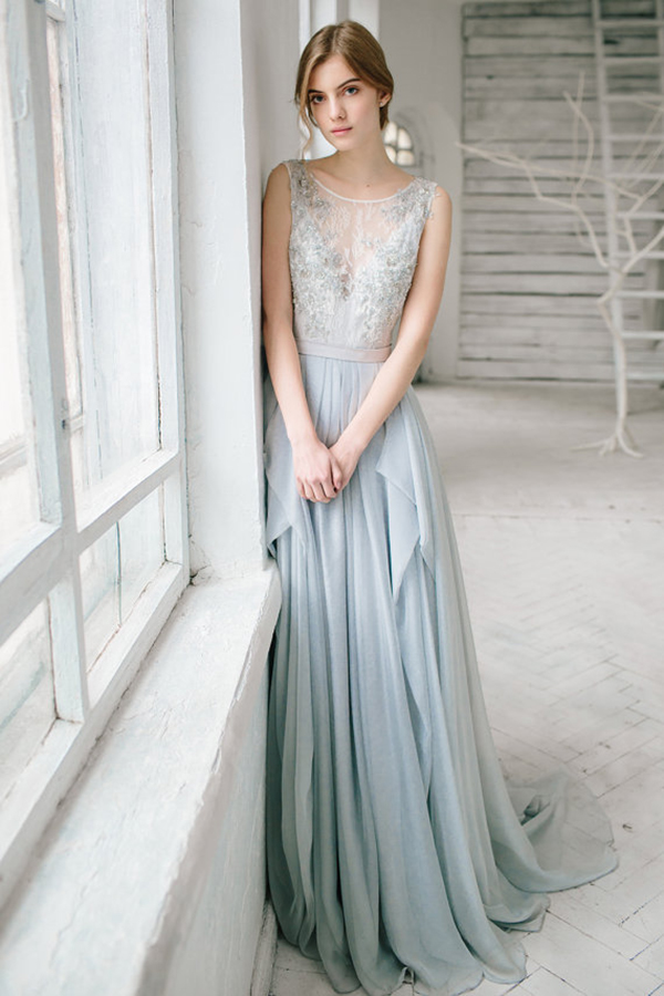 silver-grey-wedding-dress