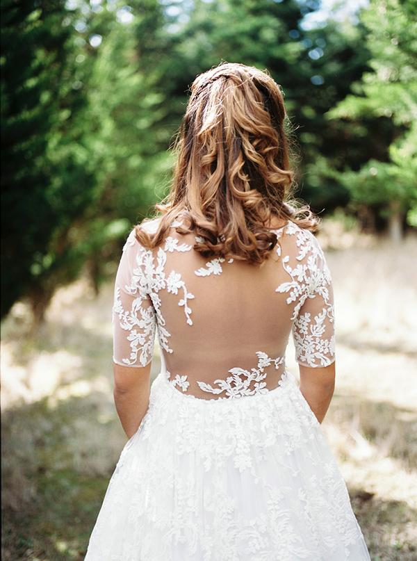 three-quarter-sleeve-wedding-dress (2)