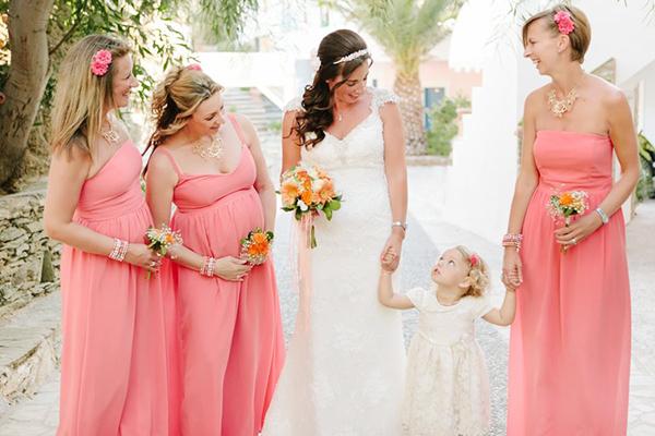 Peach-bridesmaid-dress
