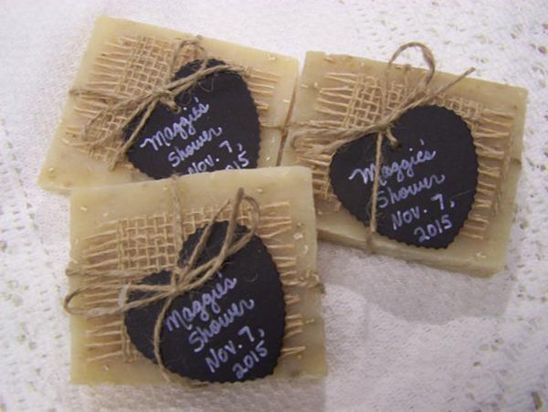 Handmade favors soaps