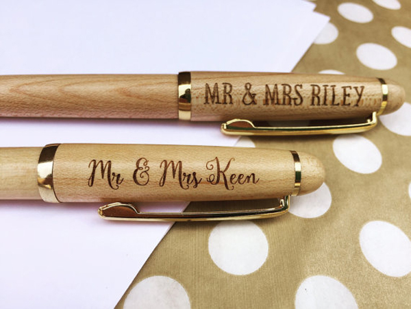 Personalized wooden pen