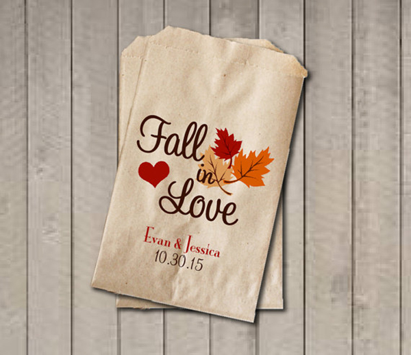 'Fall in Love' Favor Bags