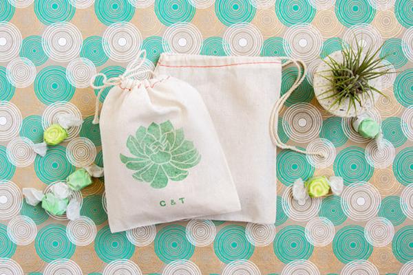 Succulent Favor Bags