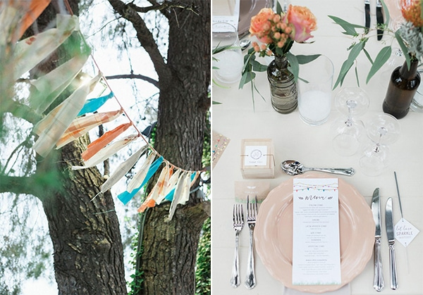beautiful rustic wedding pink yellow peach tones-30