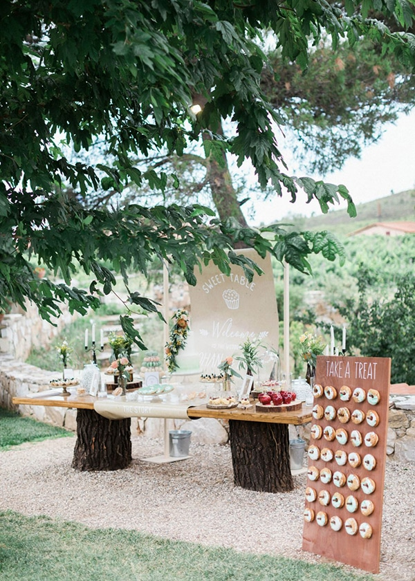 beautiful rustic wedding pink yellow peach tones-33