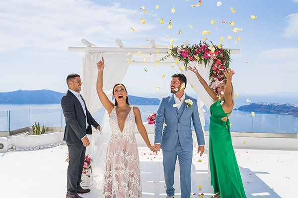 beautiful-intimate-santorini-wedding-fresh-fuchsia-flowers_16