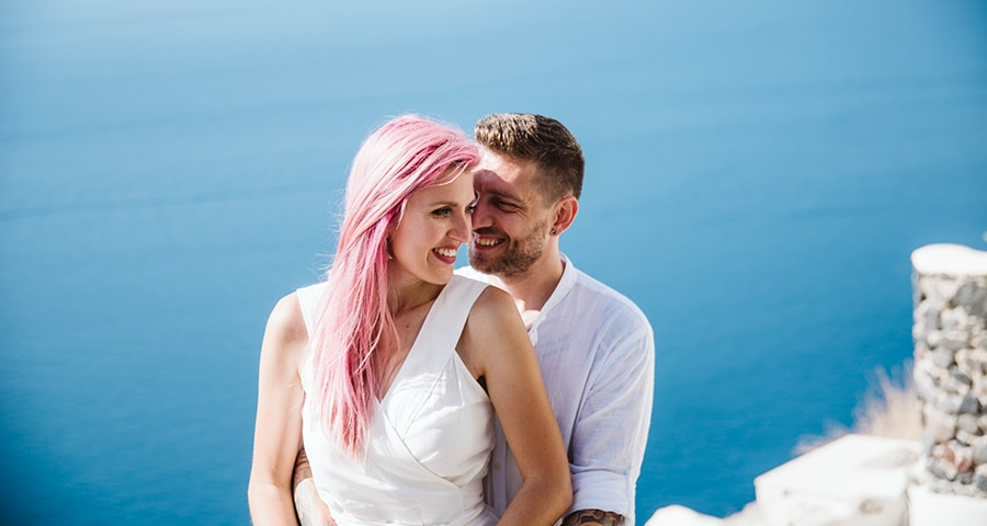 Lovely Couple Shoot In Santorini Mankica Kevin Chic