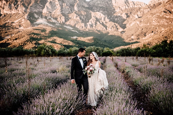 Gorgeous outdoor wedding with dried flowers and marsala peonies? Athina & Stephanos