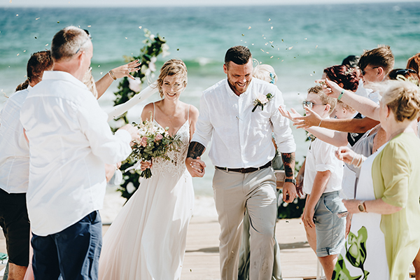 Destination wedding on Sirens Beach in Cyprus │ Sophie & John