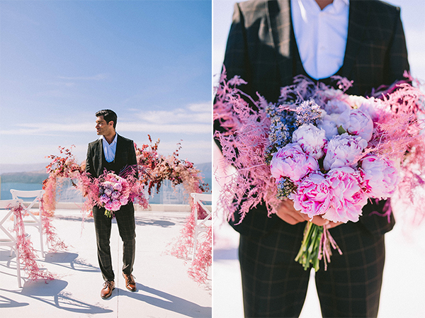 elegant-wedding-inspiration-soft-hot-pinks-santorini_24A